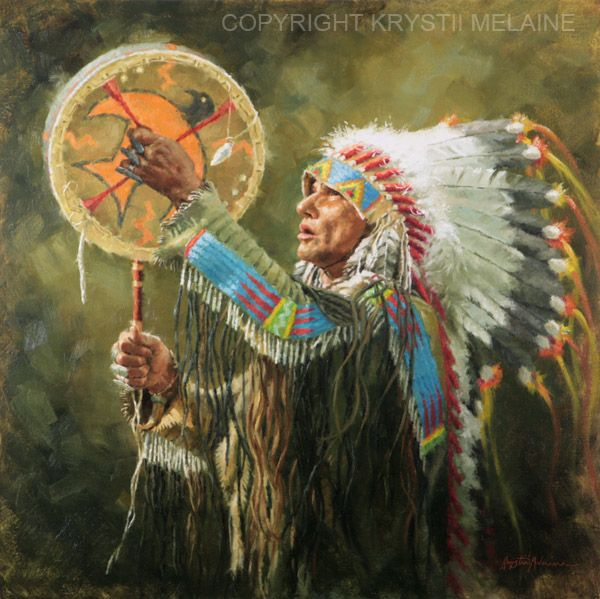 Krystii Melaine Fine Art. Commissioned Portraits, Western, Wildlife, Still Life in oils on canvas. Cowboys, Native Americans, animals and birds, Giclee prints, licensing, biography, galleries representing Krystii Melaine.