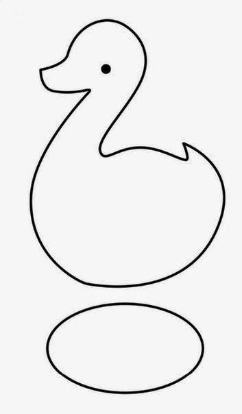 ARTE COM QUIANE - Paps,Moldes,E.V.A,Feltro,Costuras,Fofuchas 3D: Patinho de feltro Molde e passo a passo