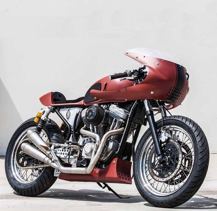 Harley Davidson sportster/cafe racer #motorcycle #motorbike