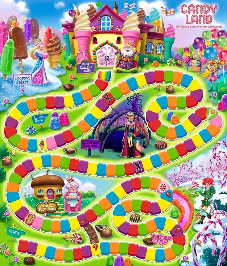Candy land board | Candyland booth | Candyland games ...