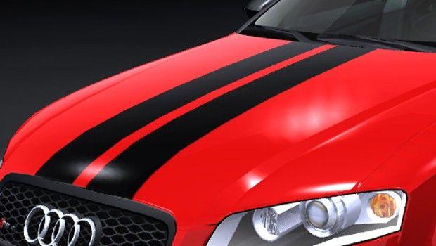 Rennstreifen in allen gewünschten Farben, Materialien und Größen gibt es bei WrapArts.com. Ein Muss für jeden schnellen Fahrer. #Rennstreifen #Viperstreifen