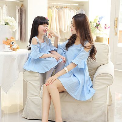 Cheap Juego de madre e hija ropa verano Vestido madre e hija Vestido sólido del o cuello Vestido de la madre hija juego Vestido, Compro Calidad Family Matching Outfits directamente de los surtidores de China: 2015 New Baby Girls Clothes Kids Clothing Childrens Princess Costumes Ball Gown Party Wedding Layered Flower Belt Tutu D