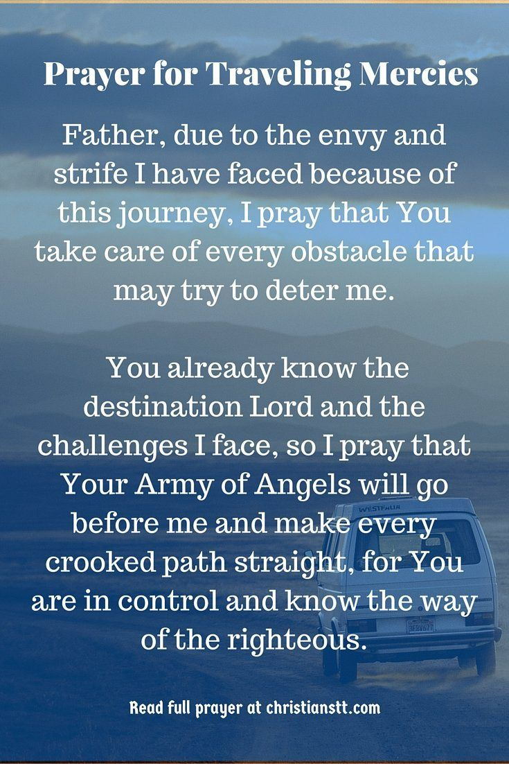 Prayer For Safe Traveling Mercies