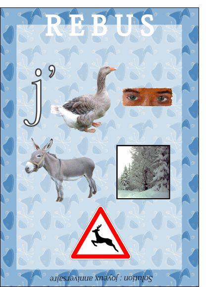 Carte Rebus Joyeux anniversaire pour envoyer par La Poste, sur Merci-Facteur !