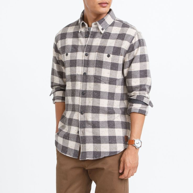 Gladstone Premium Shirt | Roots Mens Shirts - Fall 2015, style 01030435, River Rock
