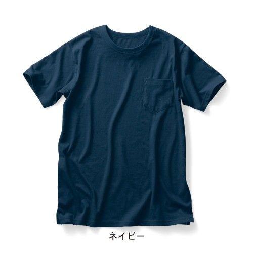 ポケット付きクルーネックTシャツ