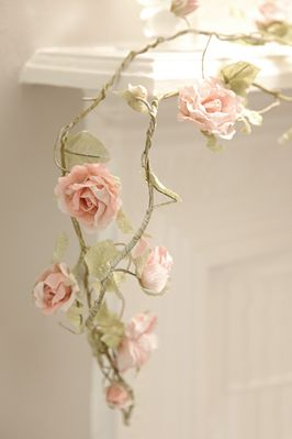 THIS IS PAPER! So cool. Paper garland...very delicate....very pretty...