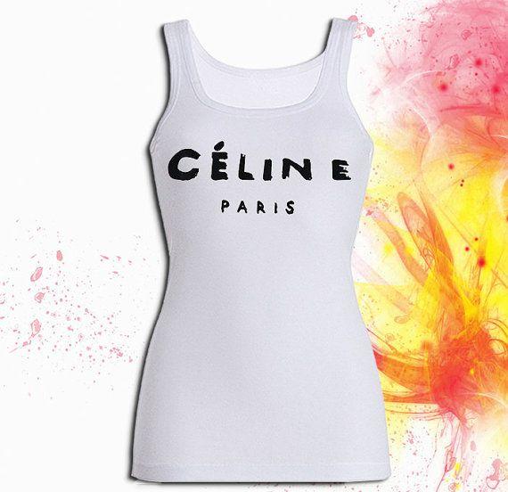 celine paris Tank top T shirt T shirt Girl Tank top by RealQount, $19.99