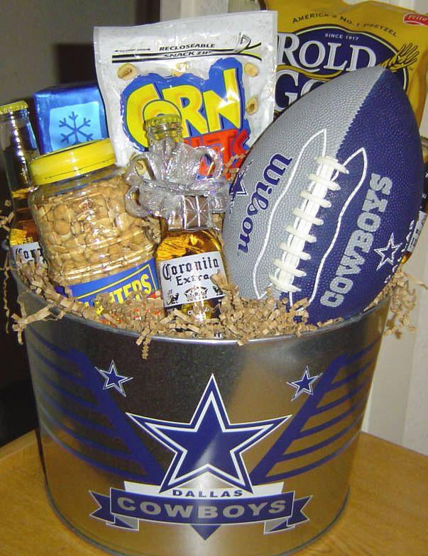 Cowboys Fan gift bucket!  audjiefied...