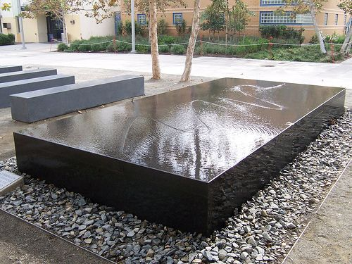 Maya Lin's Water table.  Flat surface...but water.  No plants, no fish.  Water.