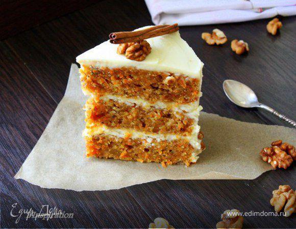 Обновленный рецепт. Самый вкусный морковный торт,который я пробовала. Изначально все-таки это был пирог, но посмотрите,может ли быть такой разрез у пирога?? только торт и точка! Тщательно изуч...