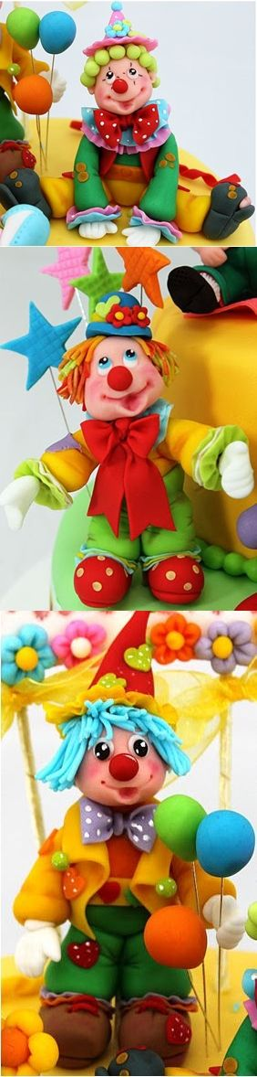 Clown Cake Toppers