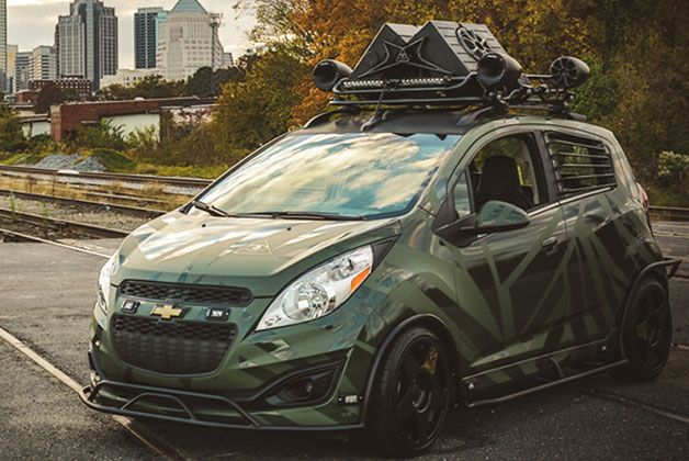 Enemy To Fashion imagines what Chevy Sonic would look like as an army vehicle