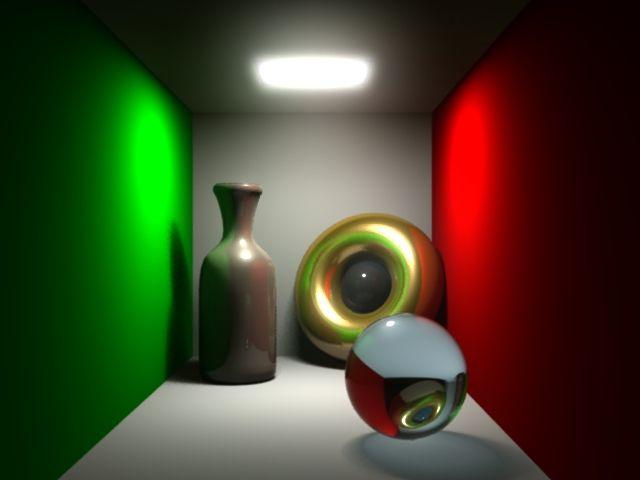 Illumination exercise, Cornell box.