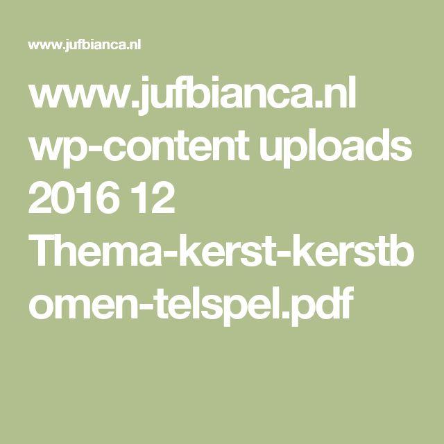 www.jufbianca.nl wp-content uploads 2016 12 Thema-kerst-kerstbomen-telspel.pdf