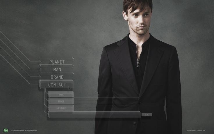 interactive-design-planet-man: Men Website, Interactive Design Planets Men, Man