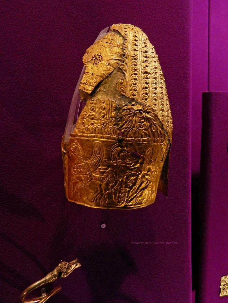 Dacian Gold Helmet from Cucuteni - Băiceni (Iași County), 5th century BCE. National History Museum Bucharest