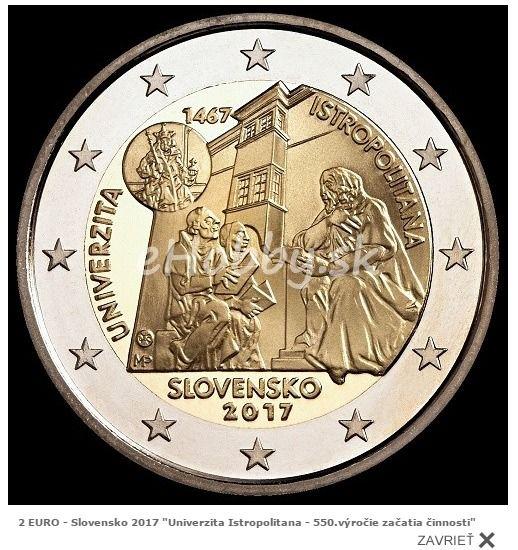 """Pamätná dvojeurová minca s motívom """"Univerzita Istropolitana - 550.výročie začatia činnosti"""" ihneď k odberu ;)"""
