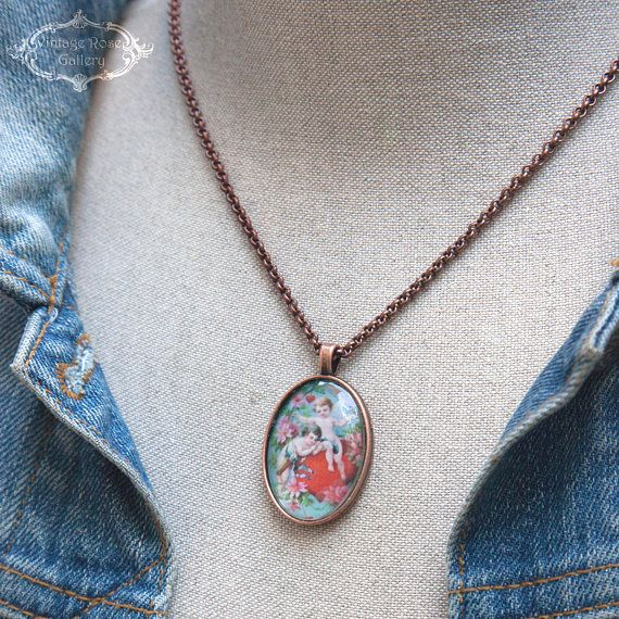 Valentine's Day gift  Victorian Valentine Necklace