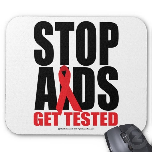 HIV/AIDS Awareness - Stop AIDS: Get Tested Mouse Pad