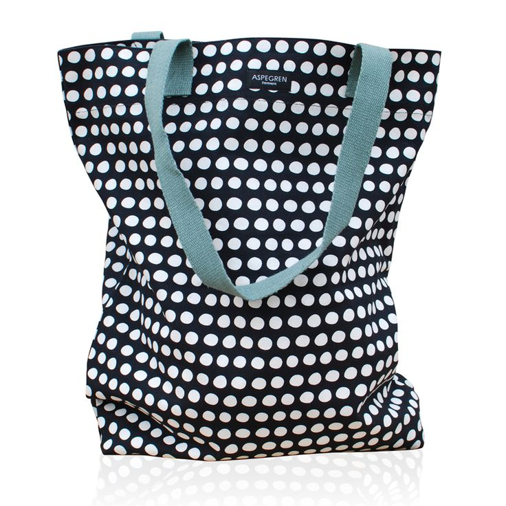 Aspegren-bag-dot-black Canvas bag www.aspegren.dk