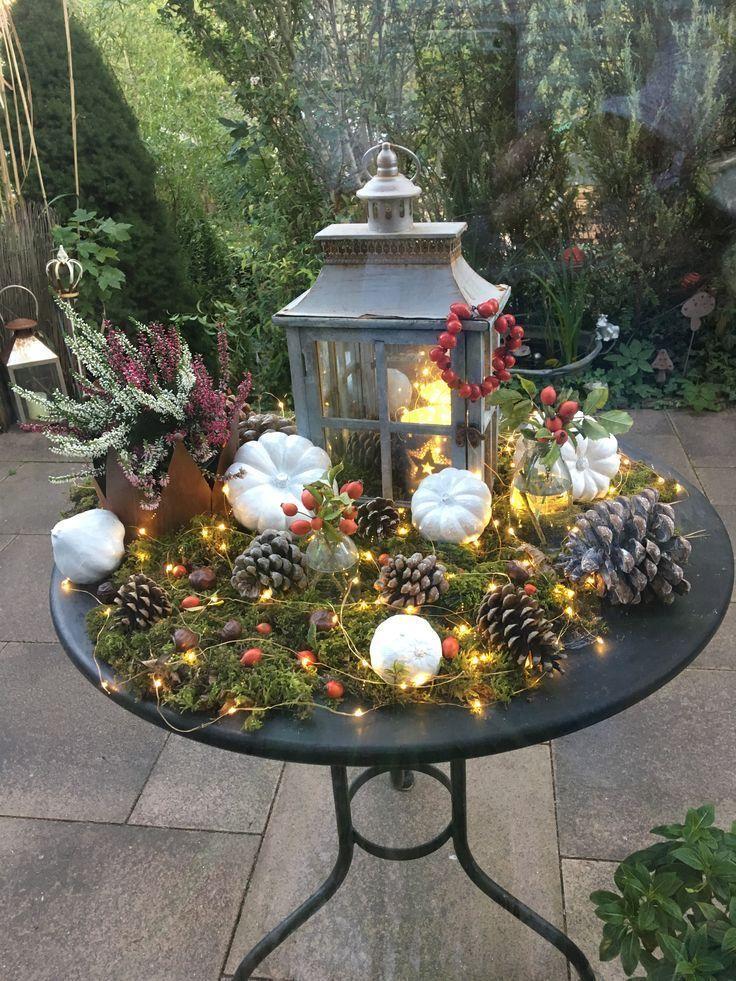 Gross Der Herbst Seiner Romantischen Seite Herbst Herbst Dekoration Deko Hauseingang Weihnachten Dekoration
