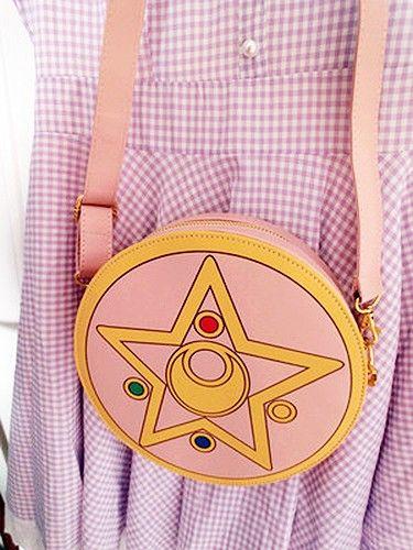 Sailor Moon Makeup Locket Compact Side Bag Handbag Make Up Collectibles Harajuku