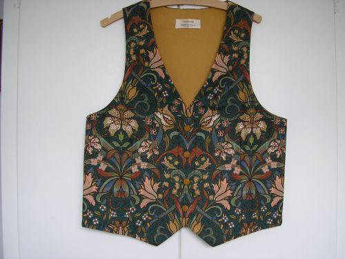 "Handmade Waistcoat Wm. Morris design, 34"" - 36"""