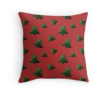 Christmas tree green sparkles pattern red Throw Pillow by #PLdesign #sparkles #Christmas #ChristmasSparkles #SparklesGift