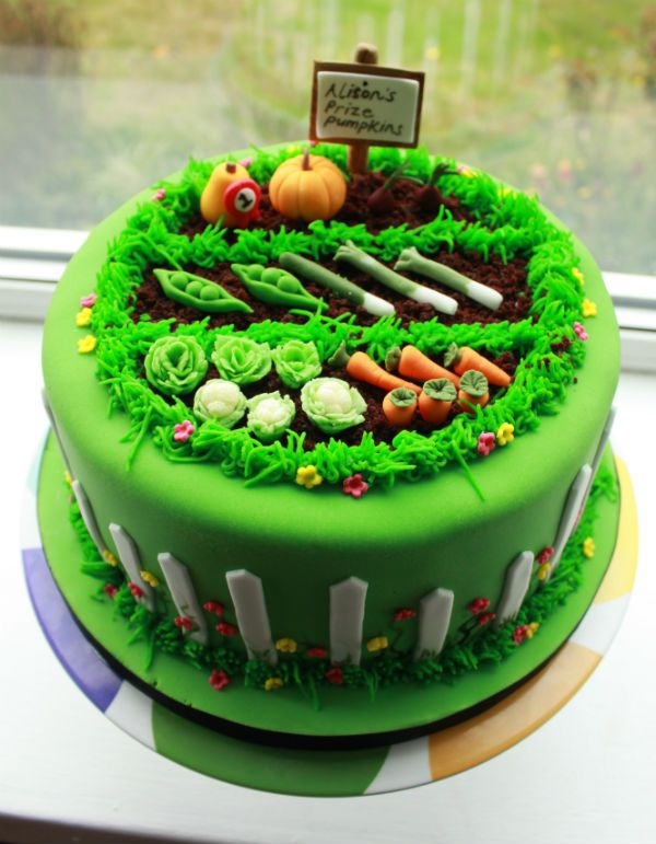 Vegetable Backyard Cake Full View