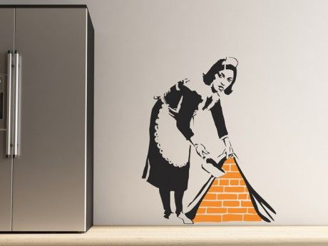 MUST HAVE IT AT THE NEW HOUSE!!!!  banksy maid wallsticker