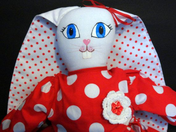 Check out this item in my Etsy shop https://www.etsy.com/au/listing/198585183/handmade-rabbit-rag-doll-wearing-cute
