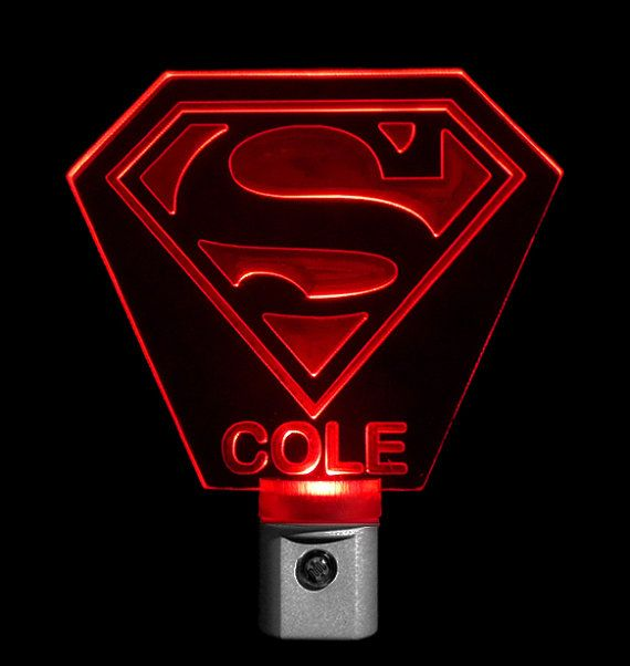 Personalized Superman Nightlight Led Light By Unique