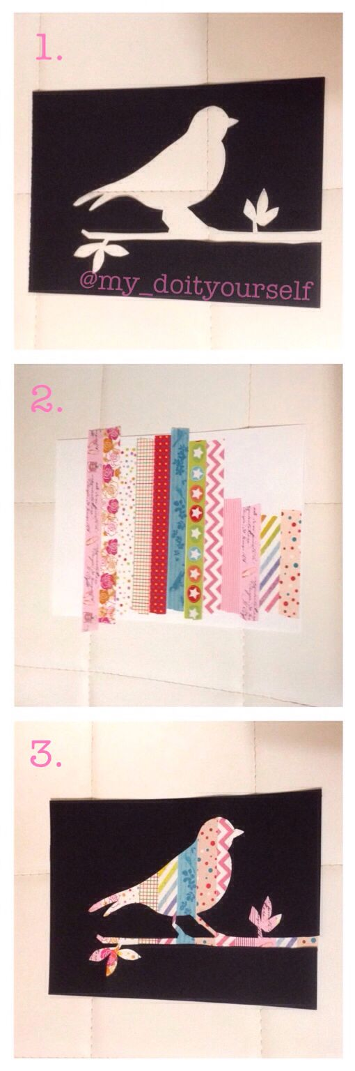 ···DIY washi tape art tutorial!!! Ah, the many wonders of washi tape!!!···