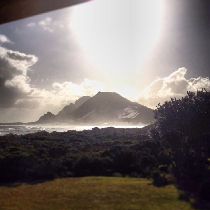 Accommodation along the beach in Betty bay gets you a view like this.