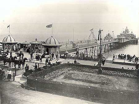 Eastbourne pier in the past