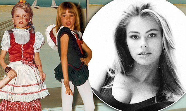 Sofia Vergara as a child growing up in Colombia