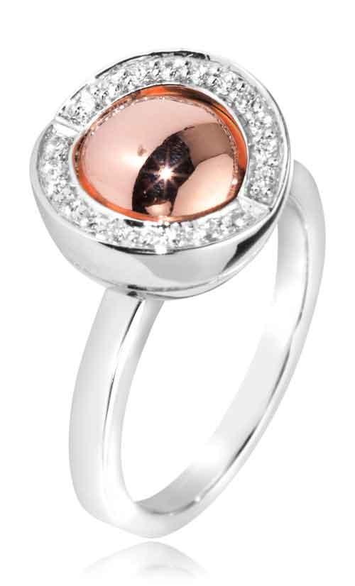 Joy de la Luz | Ring cz silver/rosé  €85,00