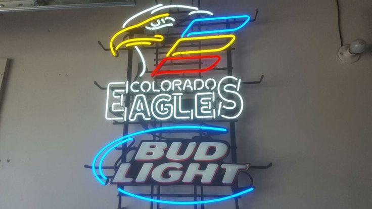 Bud Light Colorado Eagles hockey Neon Sign Real Neon Light