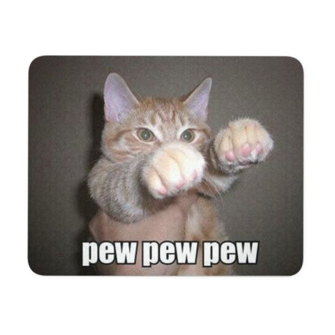Funny Cat Mousepads - Custom Printed Cute Crazy Feisty Cat Meme Neoprene Rubber
