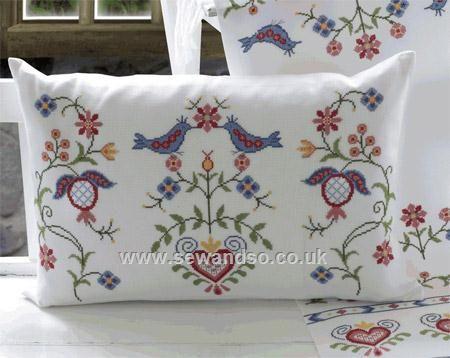 Buy Siljan Cushion Kit Cross Stitch Kit online at sewandso.co.uk