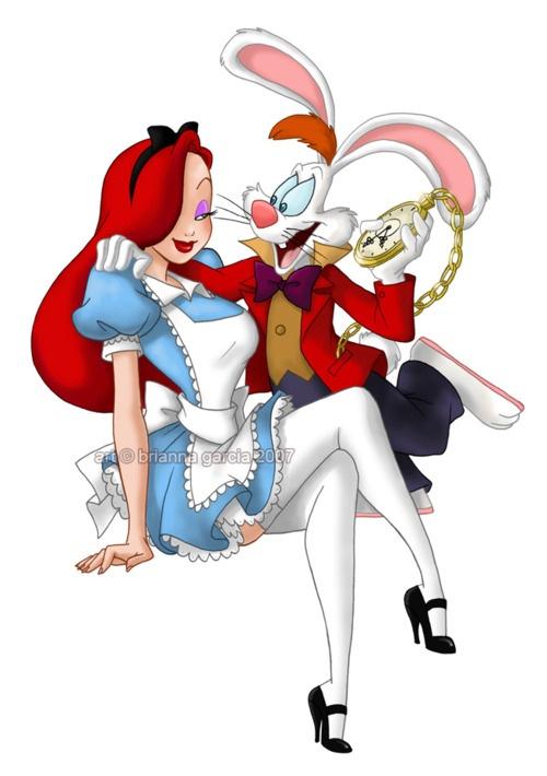 Jessica Rabbit, Roger Rabbit, Alice in Wonderland