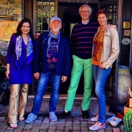 Edmondo e Alessandra Segre con Giorgio e Roberta Faletti.