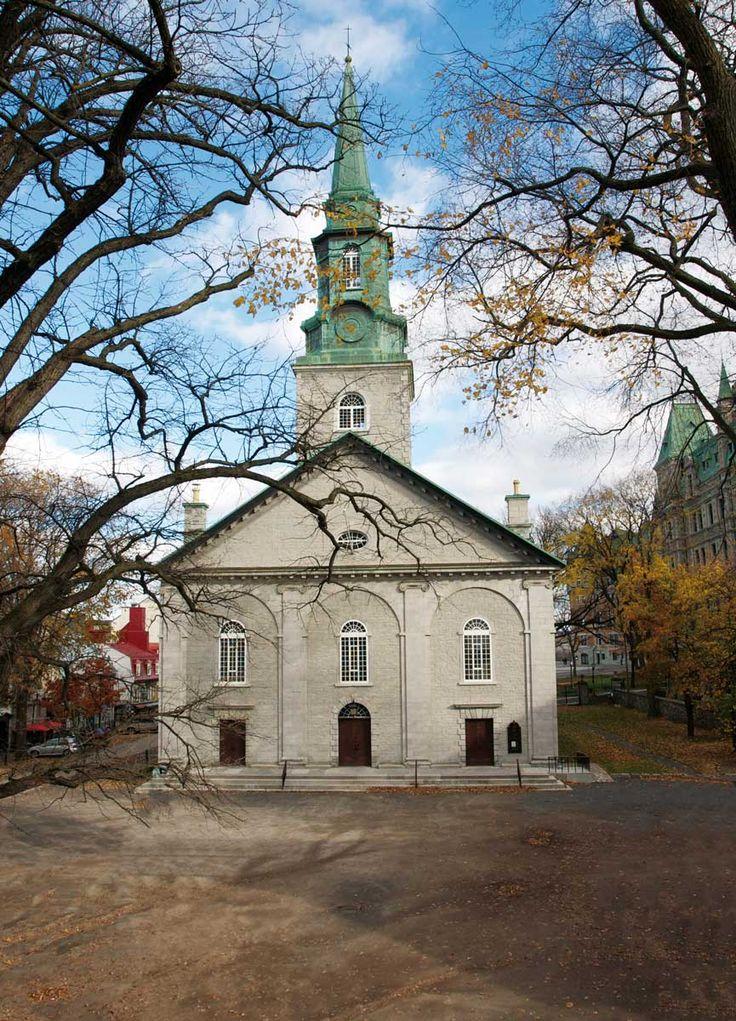 Cathédrale Holy Trinity de Québec. La première cathédrale anglicane construite en dehors des Îles Britanniques.
