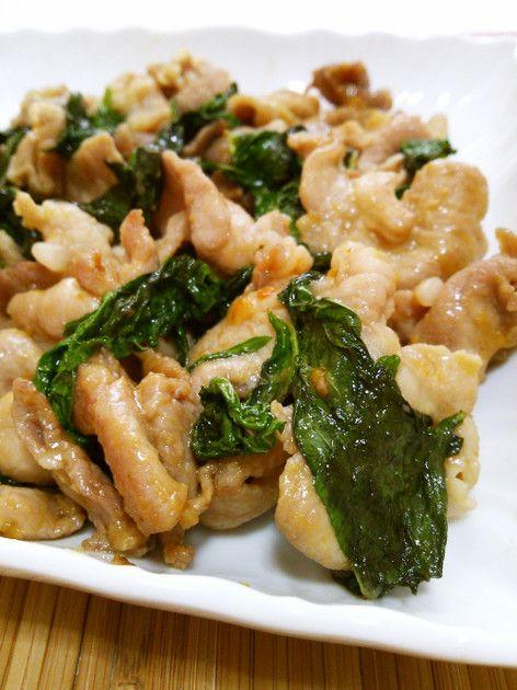 豚と大葉のコク旨味噌バター炒め by ねっちゃんっ [クックパッド] 簡単おいしいみんなのレシピが219万品