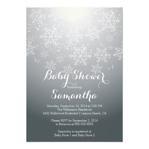 196 best holiday baby shower invitations images on pinterest baby modern snowflake neutral baby shower invitation stopboris Images
