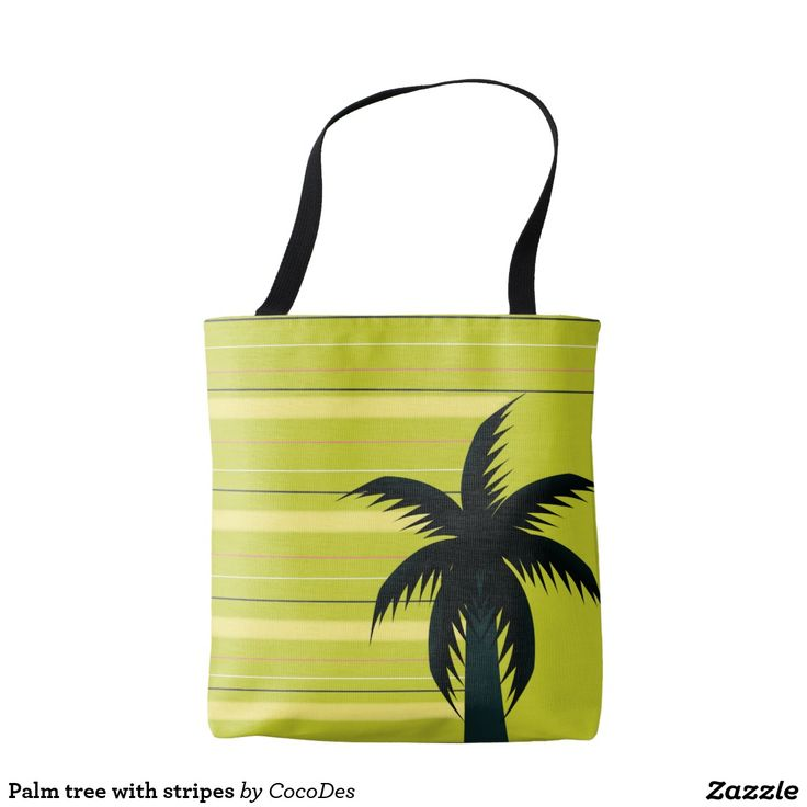 #Palm tree with #stripes tote #bag #tropical #accessories