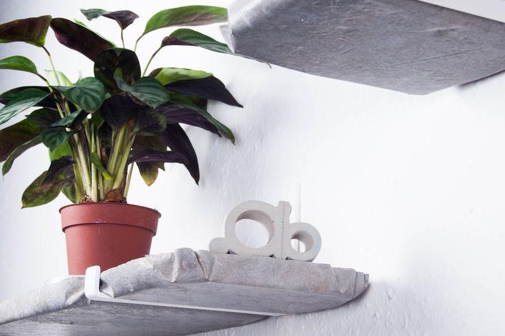 ABConcrete Design concrete shelves #plant #concrete #shelf #shelves
