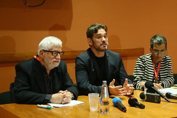 Matt Dillon (R) attends a press conference during the 11th Rome Film Festival at Auditorium Parco Della Musica on October 18, 2016 in Rome, Italy.