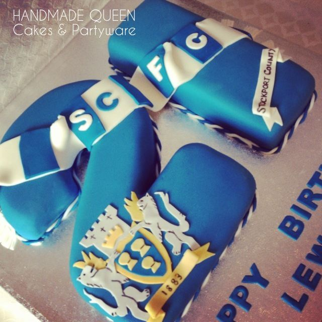 Stockport County FC 21st Birthday Cake #21 #number #football #scfc